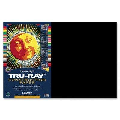 Tru-Ray Construction Paper, 76 lbs., 12 x 18, Black, 50 Shee