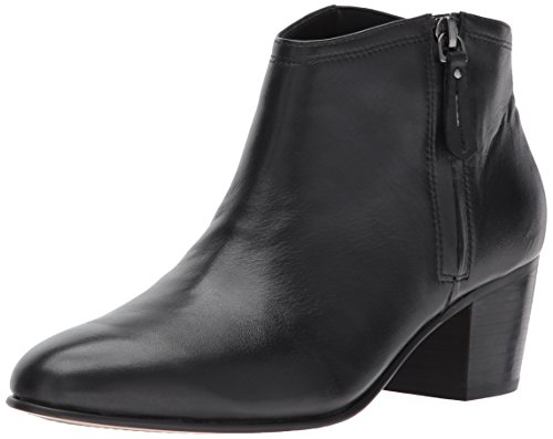 CLARKS Women's Maypearl Alice Ankle Bootie Black Leather