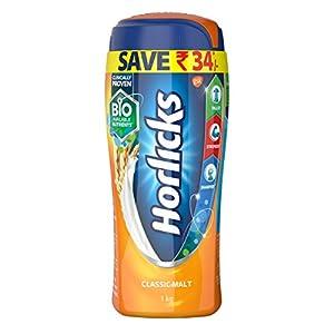 Horlicks Health and Nutrition drink – 1 kg Pet Jar (Classic Malt)