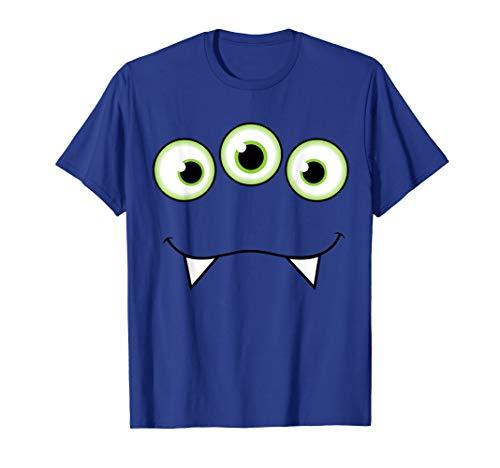 Monster Face Halloween T-Shirt - Cute Monster Costume]()