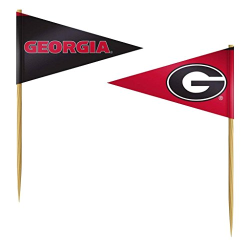 Team ProMark Georgia Bulldogs Toothpicks 36 Piece Pennant Style (Georgia Bulldogs Pennant)