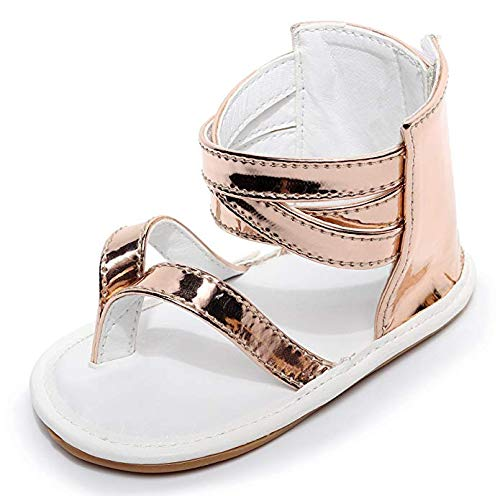 Bebila Baby Girls Boys Sandals Summer Baby Shoes PU Leather Rubber Sole Infant Toddler Moccasins