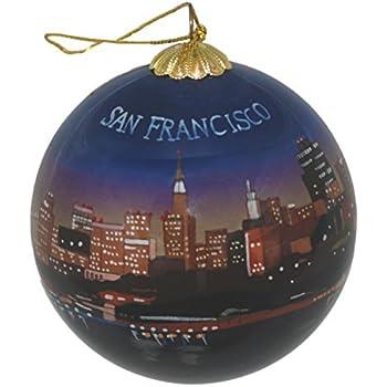Hand Painted Glass Christmas Ornament - San Francisco, California Skyline  Night - Amazon.com: Hand Painted Glass Christmas Ornament - San Francisco