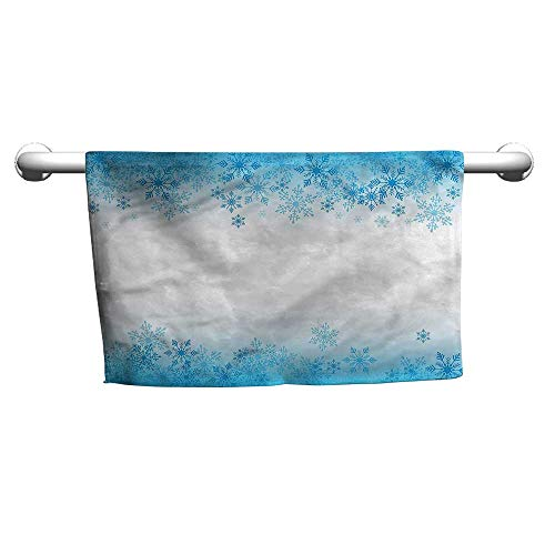 (Art Towel Winter,Abstract Snowflakes Cold,Beach Poncho Towel for Kids)