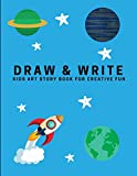 Draw and Write: Kids Art Story Book For Creative Fun, Sky Blue (Creative Writing for Kids)