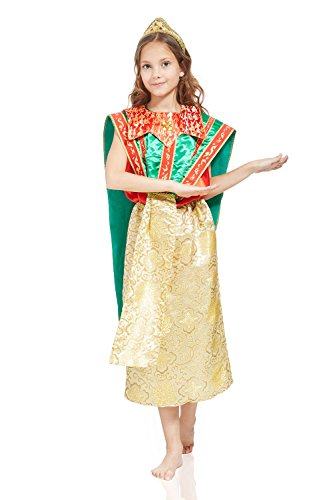 Cosplay Costumes Philippines (Kids Girls Thailand Princess Halloween Costume Khon Dancer Dress Up & Role Play (3-6 years, green, red, gold))