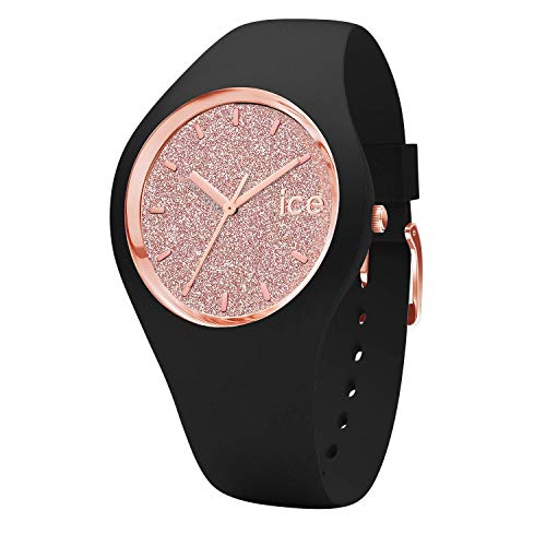 ad060e455 Ice-Watch - ICE Glitter Black Rose-Gold - Women's Wristwatch with Silicon  Strap