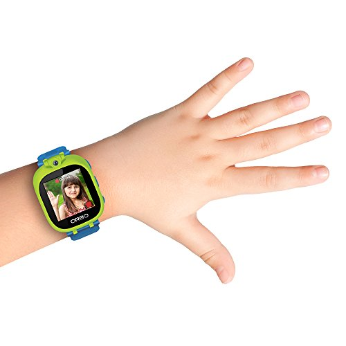 Orbo Kids Smartwatch with Rotating Camera, Bluetooth Phone Pairing, Games, Timer, Alarm Clock, Pedometer & Much More - Green
