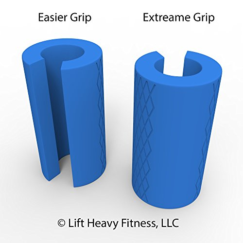 BIG GRIPS -Instantly Turns Your Barbell and Dumbbell For More Muscle Growth In Hands Wrists Arms Chest Back Specially Designed Not Fully Closed 2 levels resistance- unique feature special to Big Grips by Lift Heavy Fitness