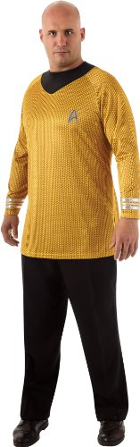 [Star Trek Movie Deluxe Gold Shirt, Adult XL Costume] (Movie Star Costume Party)