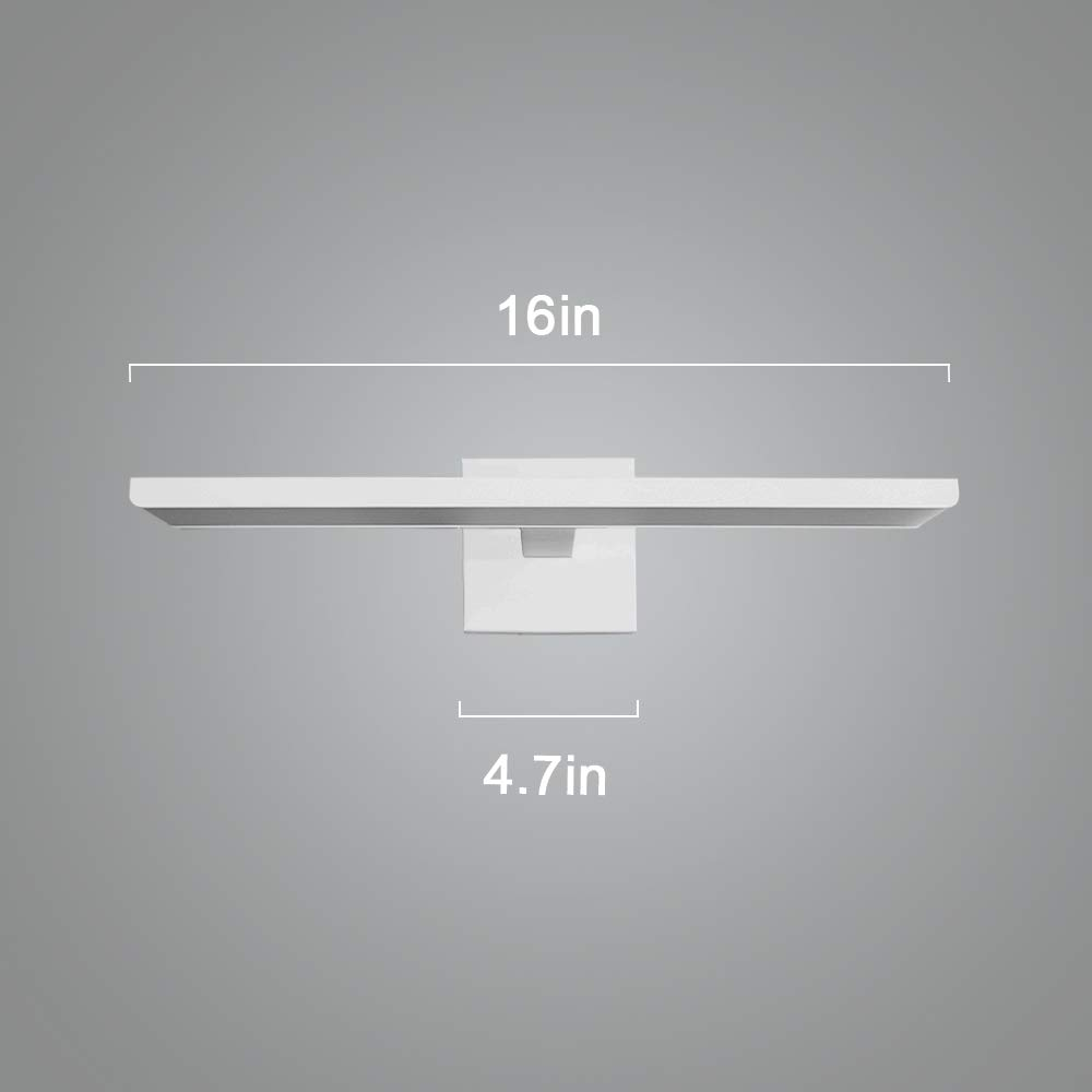 Ikakon Modern Vanity Lights Bathroom Wall Lights Aluminum Vanity Lamp 16W White by Ikakon (Image #7)