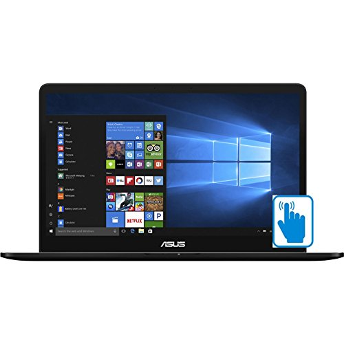 "Price comparison product image ASUS ZenBook Pro UX550VE-DB71T 15.6 inch FHD Touch Laptop PC (Intel i7-7700HQ Quad Core, 16GB RAM, 1TB SSD, GTX 1050Ti, 15.6"" Full HD (1920 x 1080) Touchscreen, Fingerprint, Win 10 Home)"