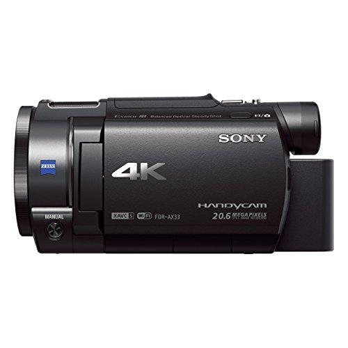 Sony Handycam FDR-AX33 4KUHD – Videocámara (pantalla de 3″, zoom óptico 10x, estabilizador óptico), negro