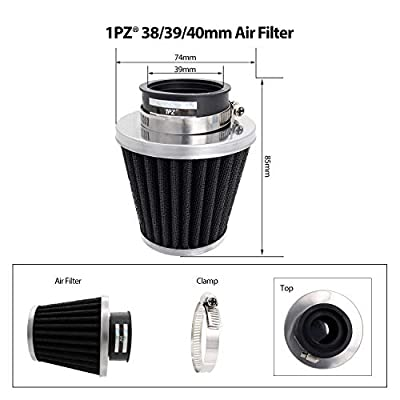 1PZ PF6-S01 Racing Ignition Coil 6 Pins CDI Spark Plug Kit 39mm Air Filter for 50cc 125cc 150cc Gy6 Moped Scooter Go Kart: Automotive