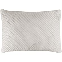 Snuggle-Pedic Ultra-Luxury Bamboo Shredded Memory Foam Pillow Combination With Kool-Flow Micro-Vented Covering...