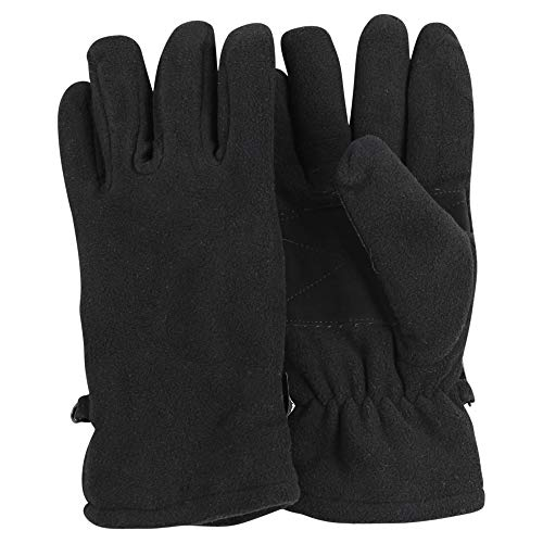 (Women's Warm Thinsulate Lined Fleece Driving Gloves (Black, Large))