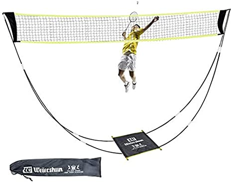 Kikilive Portable Badminton Net Set With Stand Carry Bag Volleyball Net For Indoor Beach Sports Outdoors Can Be Set Up On Any Surface In Seconds Amazon Co Uk Sports Outdoors
