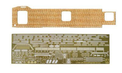 1/700 Water Line aircraft carrier Soryu Wood Deck Sheet & Photo-Etched Parts Set (japan import)