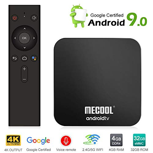 Mecool TV Box KM9Pro Android 9 0 4K TV Box with DDR4/4GB/32GB Storage/Voice  Remote/Google Certified Media Player Support 2 4G/5G WiFi and BT4 0 or