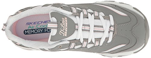Biggest Grey Skechers Start White Sneaker Donna Grigio Fan D'Lites Fresh x8w8qZ6Y