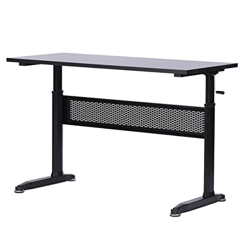 DEVAISE Adjustable Height Standing Desk 55 Inches with Crank Handle