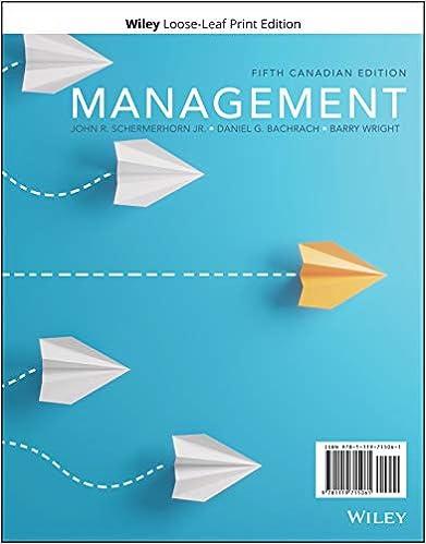 Management, 5th Canadian Edition [John R. Schermerhorn Jr]