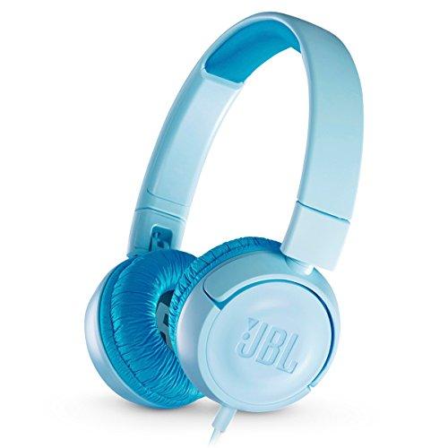 JBL JR 300 Kids On-Ear Headphones with Safe Sound Technology (Blue)