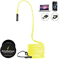 GiraffeCam 3.0 Rigid - Flexible Endoscope Borescope Inspection Camera | Android PC Mac | 2.0 MP HD (6.5 Feet) Review Review Image