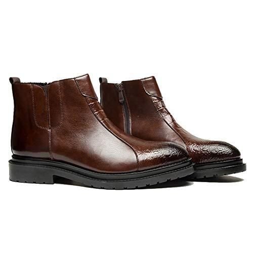 Stivali Stivali Stivali Stivali EU Moda Punta Dimensione Casual Nero Color alla Scarpe Uomo Lampo 2018 da da Cerniera da Uomo 40 con e a Stivali shoes Uomo Jiuyue Marrone Alti XxUpwp