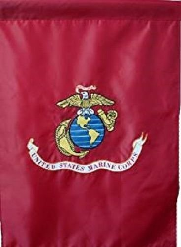 (ALBATROS 28 in x 40 in Embroidered Sewn USMC Marines House Garden Sleeve Nylon Flag Banner for Home and Parades, Official Party, All Weather Indoors Outdoors)