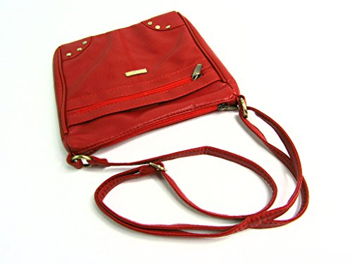 Rojo Leather Mujer Emporium The Bolsos qHwIFO7F