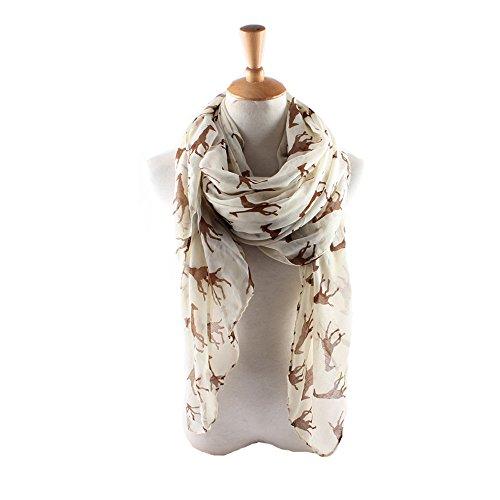 ctshow giraffe Print Voile Print Scarf Fashionable Women Scarves shawl (Giraffe Print Skirt)