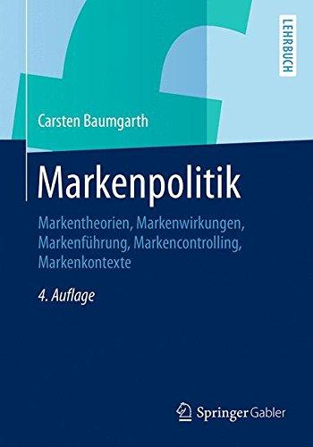 Markenpolitik: Markentheorien, Markenwirkungen, Markenführung, Markencontrolling, Markenkontexte