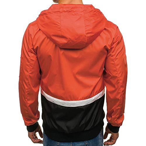 Loisir Sweat Veste ❤️manteau Cardigan Zippés Capuche À Automne Hiver Pull Slim Manteau Amlaiworld Vestes Homme Orange Sport Hiver Sweats gaqdBwt