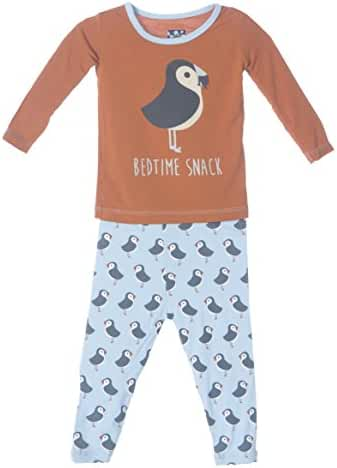 KicKee Pants Baby Boys' Print Long Sleeve Pajama Set