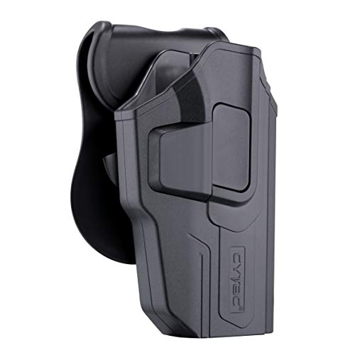 CYTAC OWB Holster for Sig Sauer P226, Outside The Waistband Belt Holsters Fit Sig P220 P226 Full Size 4.4'' Barrel, Trigger Release Tactical Polymer Pistol Holder with 360° Adjustable Paddle-RH ()