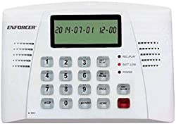 Seco-larm E-921cpq Automatic Voice Dialer For Security Systems, Trigger-activated Alarm & Dialer With User-programmable 20-second Alarm Message, 16-digit Large Display With Datetime & Function Icons