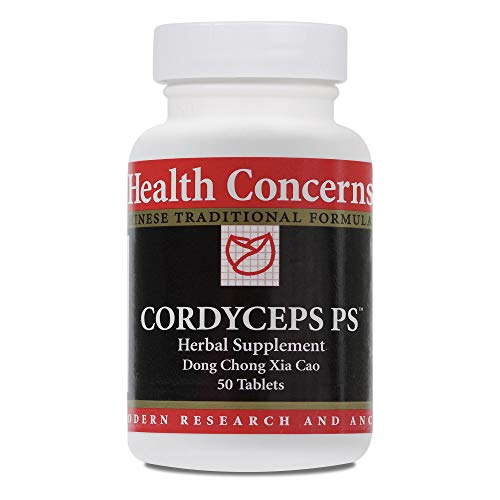 Health Concerns – Cordyceps PS – Dong Chong Xia Cao Chinese Herbal Supplement – Supports Lung Function – with Cordyceps Fruiting Body – 50 Tablets per Bottle