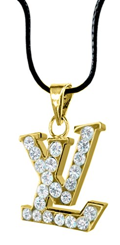 LV 18K Gold Plated/White Gold Plated Vintage Swarovski Crystal Studs Earrings/Pendants - Packed in a Gift Box