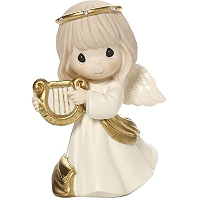Precious Moments with Porcelain Ornaments,Figurine and Metal Rotating Angel Lantern