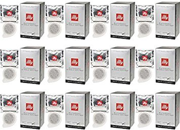 illy Intenso E.S.E. Pods , Dark Roast, 100% Arabica Coffee, All-Natural, No Preservatives, 18 Count (Pack of 12)