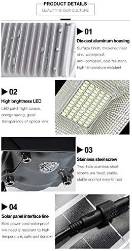 50W Solar Straßenlaterne Flutlicht im Freien Sicherheitslicht mit hoher Helligkeit Mit Fernbedienung 88 LED-Lampenperlen IP65 wasserdicht Technische Lampe Geeignet für Gärten, Straßenbeleuchtung