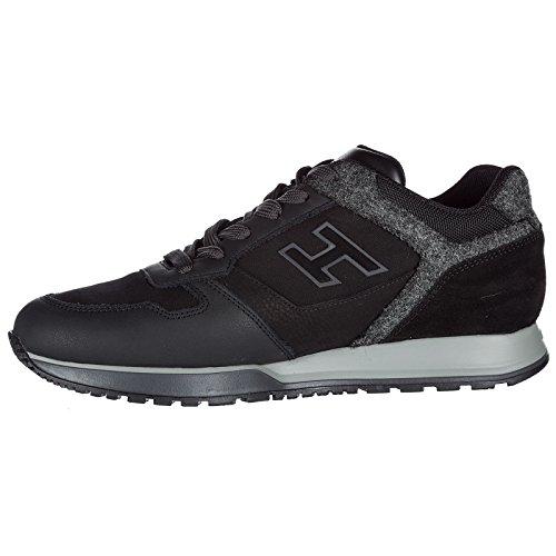 Flock Sneakers Baskets Chaussures h321 en Homme h Hogan Noir Daim Pg8qwq