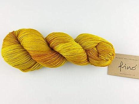 Manos Del Uruguay 100 g 401 Corsage Ovillo de lana de seda de merino te/ñida a mano