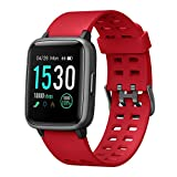 moreFit Smart Watch Fitness Tracker,TouchScreen Activity Tracker Watch with Heart Rate Monitor,Waterproof Smart Fitness Band with Step Tracker,Calorie Counter,Alarm Clock,Compatible with iOS & Android