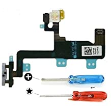 Iphone 6 Proximity Light Sensor Power Button On Off Flex Cable Microphone and noise cancelling Microphone already installed incl 2x screwdriver for easy installation MMOBIEL