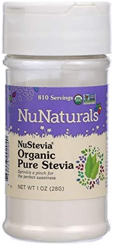 NuNaturals NuStevia Organic Pure Stevia All Natural Sweetener, 1 Ounce