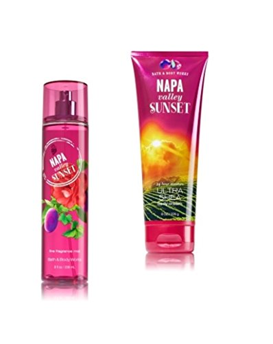 Bath & Body Works - Signature Collection – Napa Valley Sunset - Gift Set- Fine Fragrance Mist & Ultra Shea Body Cream - Napa Pump
