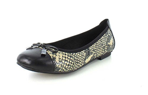 Vionic Womens 359 Minna Leather Shoes Natural Snake