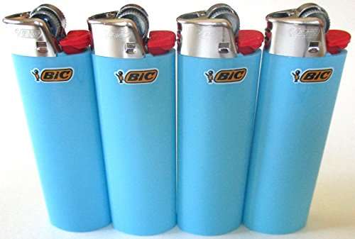 bic-baby-blue-classic-full-size-lighters-new-lot-of-4